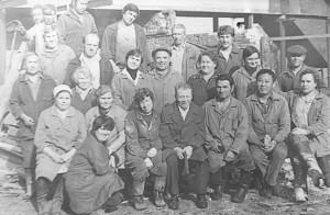 Коллектив дубильного цеха кожзавода, 1980 год.