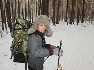 Участник перехода пятиклассник Савелий Булдаков.