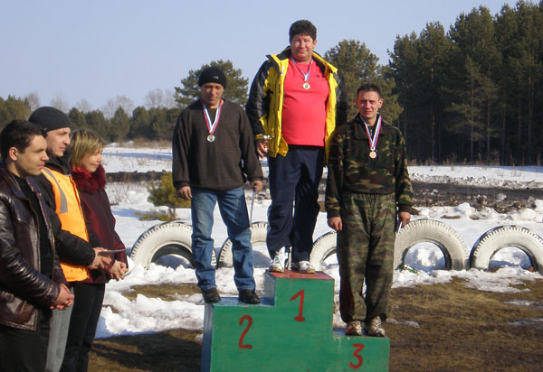1 место - Николай Зверев (С. Лог), 2 место - Владимир Карпунин (С. Лог), 3 место - Олег Линков (Екатеринбург).