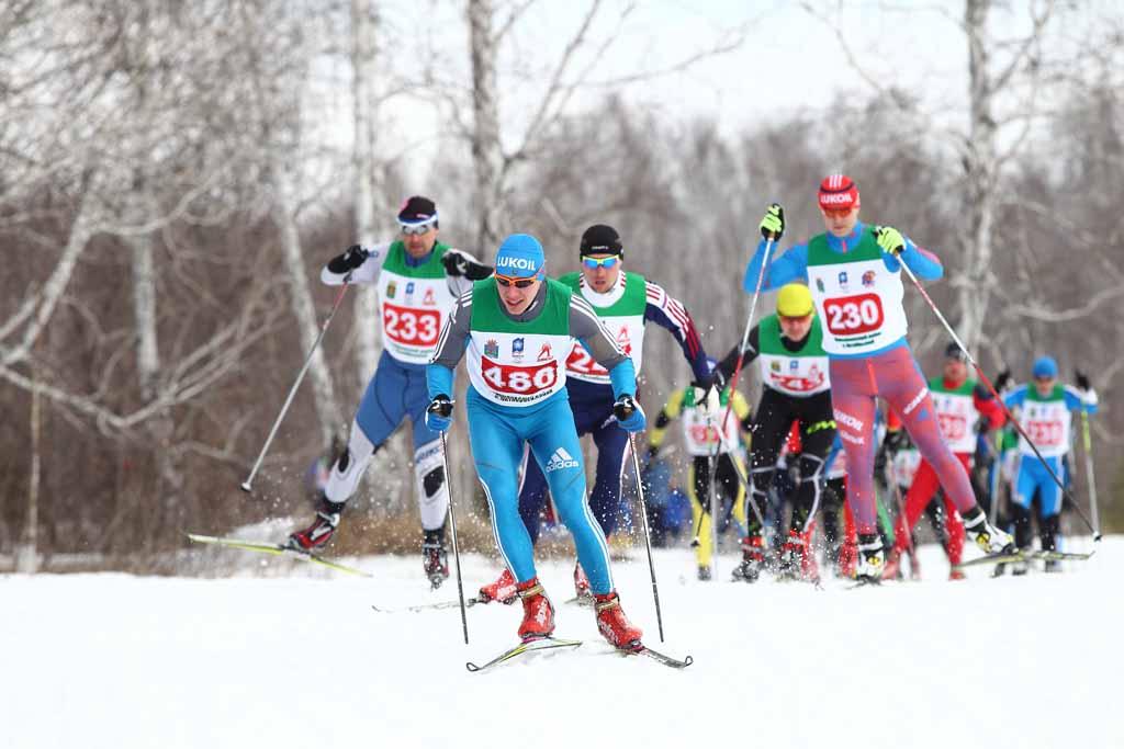 Гонка 15 км. Мужчины (возрастная группа 30-34 года). Под № 486 – Николай Крючков (ДЮСШ района).