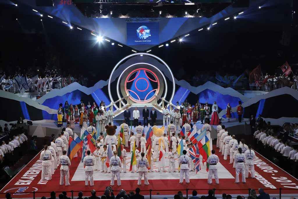 Церемония открытия чемпионата мира по киокусинкай каратэ KWU.