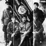 Лучшие люди пожарной части. По традиции снимались у Красного знамени части. 1940 год.