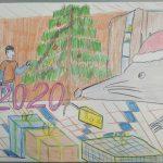 Рисунок Дмитрия Сенцова, 8 лет, школа № 7.
