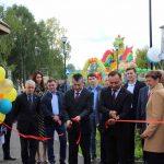 Обновлённый центральный сквер торжественно открыли глава Ачита Дмитрий Верзаков и заместитель губернатора Азат Салихов.