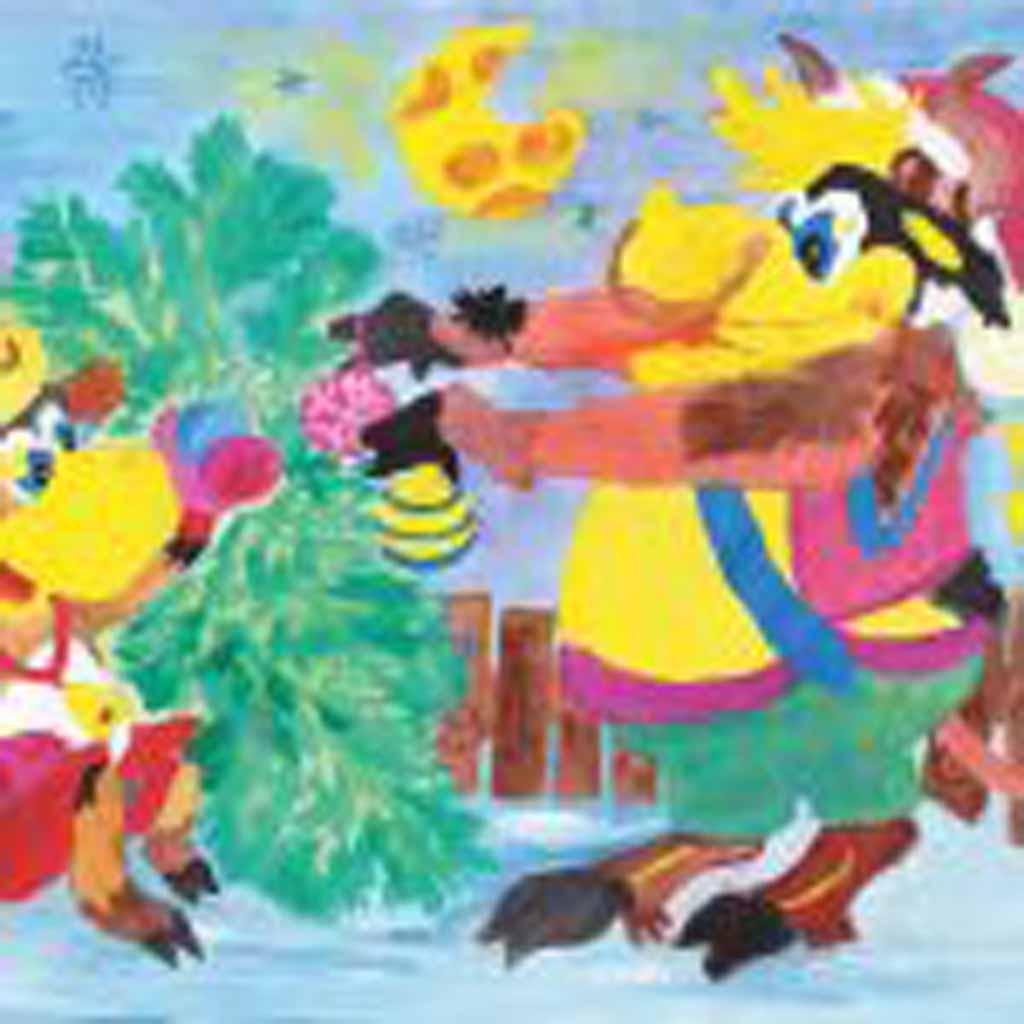 Рисунок Екатерины Ушаковой, 21 год. «У каждого должен быть праздник».