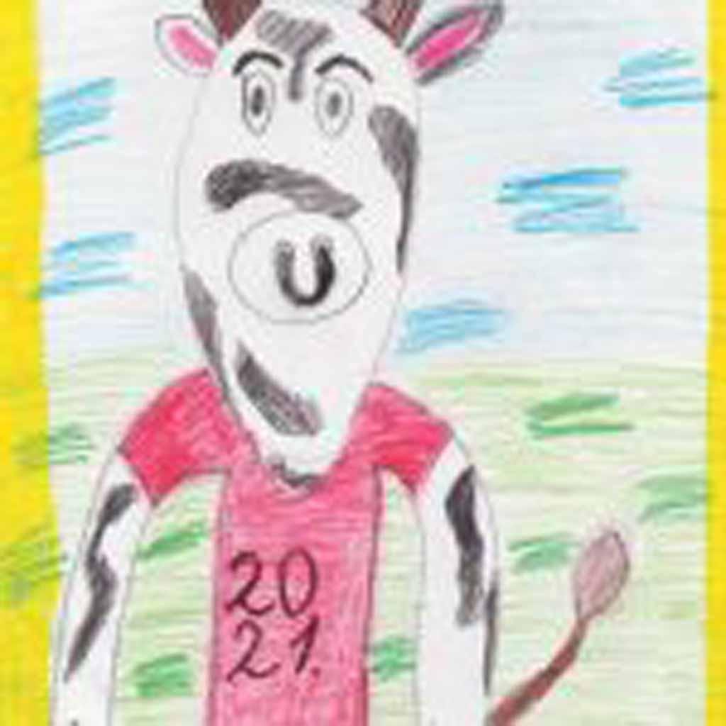 Рисунок Максима Ширыкалова, 10 лет. «Спортивный бык».