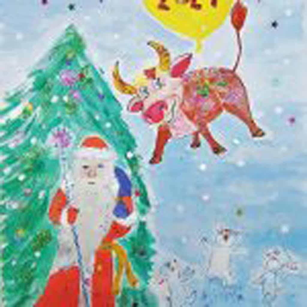 Рисунок Елены Исаковой, 32 года. «Наконец-то ты пришёл!»