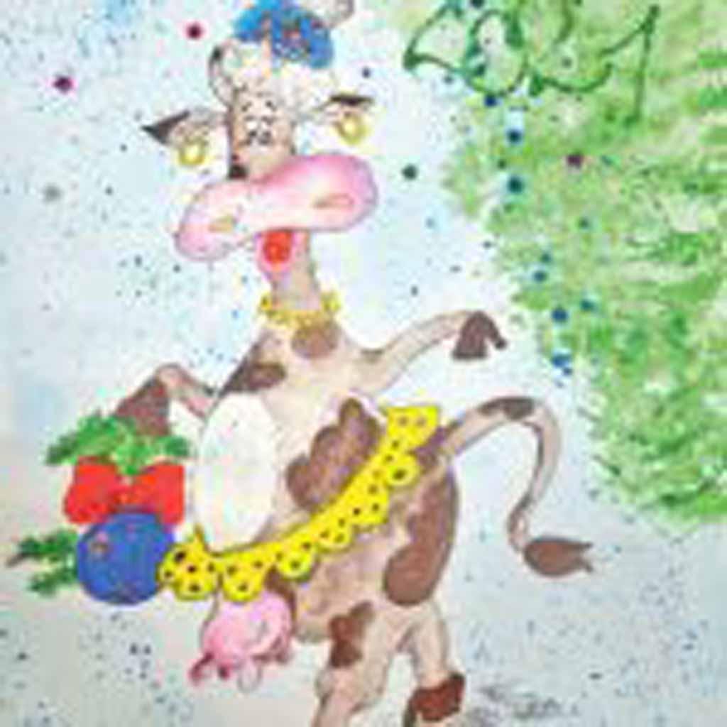 Рисунок Ольги Наурзбаевой, 42 года. «Будет удачным год, я гарантирую!»