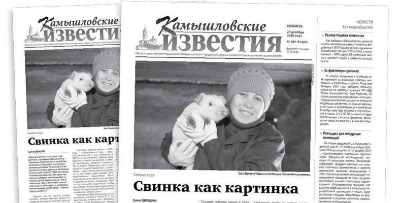 «Камышловские известия» 29 декабря 2018 года