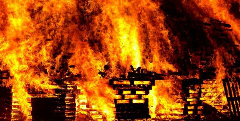 Погиб при пожаре