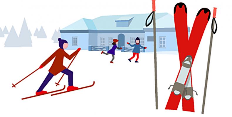 На лыжной базе «Масляны»