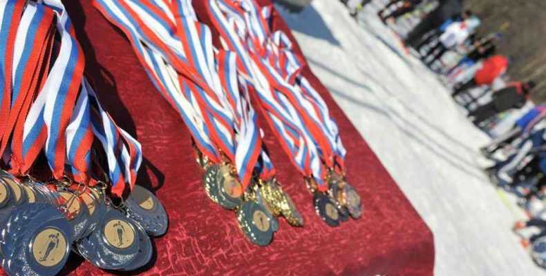 Участвовали в лыжной гонке