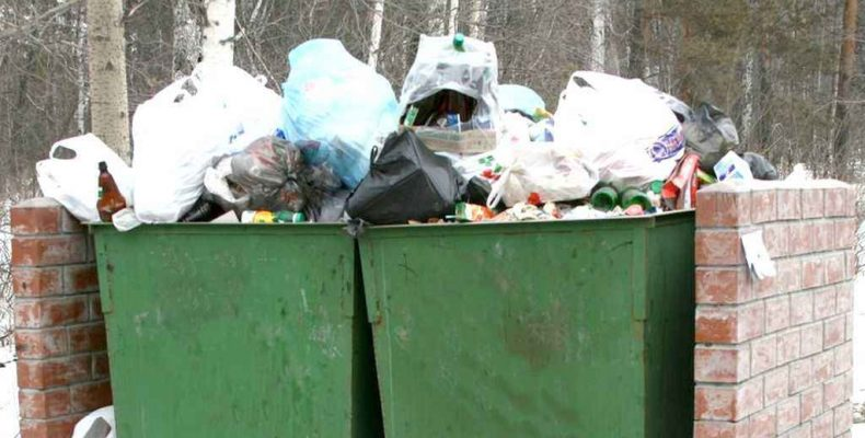 1552 кубометра мусора