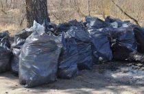 105 мешков мусора