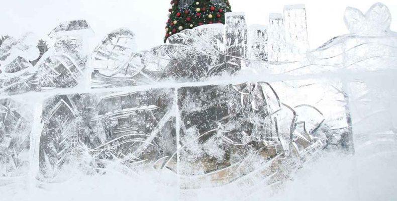 Строительство ледового городка